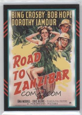 2011 Panini Americana Movie Posters Materials Triple #54 - Bing Crosby, Dorothy Lamour, Bob Hope /499