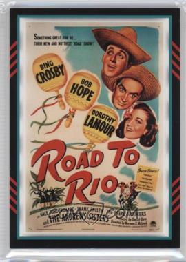 2011 Panini Americana Movie Posters Materials Triple #8 - Bing Crosby, Bob Hope, Dorothy Lamour /499