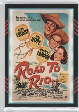 2011 Panini Americana Movie Posters Materials Triple #8 - Bing Crosby, Bob Hope, Dorothy Lamour /499