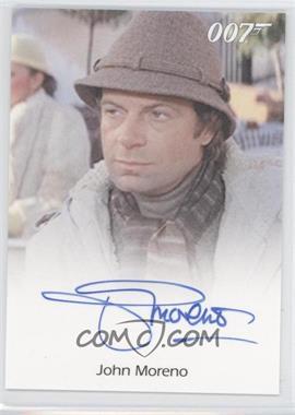 2011 Rittenhouse James Bond: Mission Logs - Full-Bleed Autographs #JOMO - John Moreno as Luigi Ferrara
