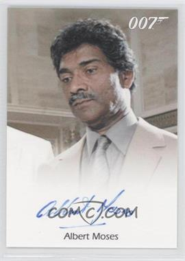 2011 Rittenhouse James Bond: Mission Logs Full-Bleed Autographs #ALMO - Albert Moses as Sadruddin