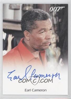 2011 Rittenhouse James Bond: Mission Logs Full-Bleed Autographs #EACA - Earl Cameron as Pinder