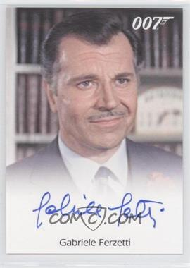 2011 Rittenhouse James Bond: Mission Logs Full-Bleed Autographs #GAFE - Gabriele Ferzetti as Marc Ange Draco