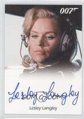 2011 Rittenhouse James Bond: Mission Logs Full-Bleed Autographs #LELA - Lesley Langley as Flying Circus Pilot