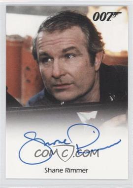 2011 Rittenhouse James Bond: Mission Logs Full-Bleed Autographs #SHRI - Shane Rimmer as Commander Carter