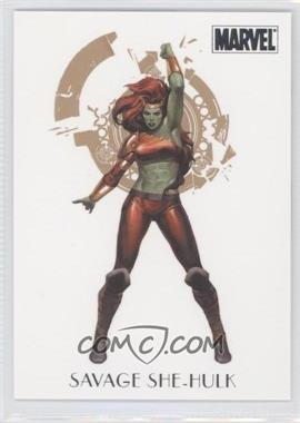 2011 Rittenhouse Marvel Dangerous Divas - Women of Marvel #W7 - Savage She-Hulk
