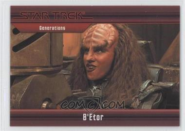 2011 Rittenhouse Star Trek Classic Movies Heroes & Villains Premium Packs #40 - Generations - B'Etor /550