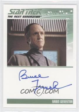 2011 Rittenhouse The Complete Star Trek: The Next Generation Series 1 - Autographs #BRFR - Bruce French