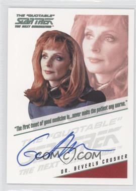 2011 Rittenhouse The Complete Star Trek: The Next Generation Series 1 - Autographs #GAMC.2 - Gates McFadden (Quotable Style)