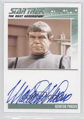 2011 Rittenhouse The Complete Star Trek: The Next Generation Series 1 - Autographs #MATH - Malachi Throne