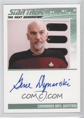 2011 Rittenhouse The Complete Star Trek: The Next Generation Series 1 Autographs #GEDY - Gene Dynarski