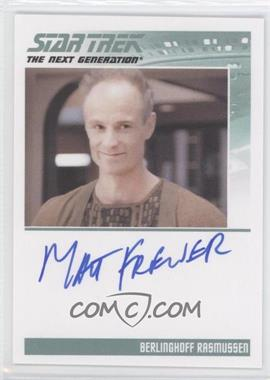 2011 Rittenhouse The Complete Star Trek: The Next Generation Series 1 Autographs #MAFR - Matt Frewer