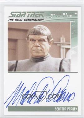 2011 Rittenhouse The Complete Star Trek: The Next Generation Series 1 Autographs #MATH - Malachi Throne