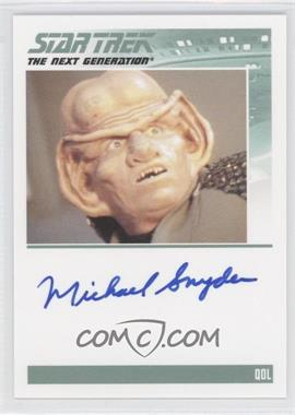 2011 Rittenhouse The Complete Star Trek: The Next Generation Series 1 Autographs #MISN - Michael Snyder