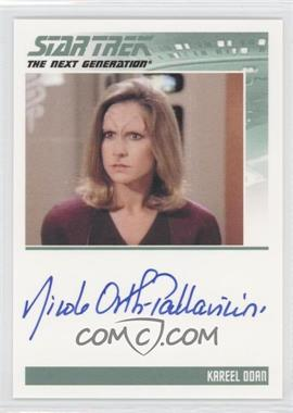 2011 Rittenhouse The Complete Star Trek: The Next Generation Series 1 Autographs #NIOR - Nicole Orth-Pallavicini