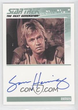 2011 Rittenhouse The Complete Star Trek: The Next Generation Series 1 Autographs #SAHE - Sam Hennings