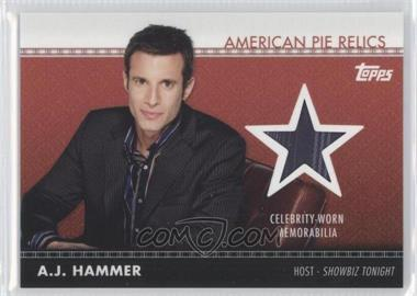 2011 Topps American Pie American Pie Relics #APR-2 - A.J. Hammer