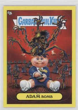 2011 Topps Garbage Pail Kids Flashback Series 2 Adam Mania Yellow #8 - Adam Bomb