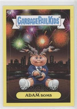 2011 Topps Garbage Pail Kids Flashback Series 3 Adam Mania Yellow #5 - Adam Bomb