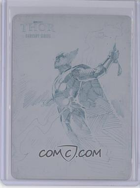 2011 Upper Deck Marvel Thor: The Movie Concept Series Printing Plate Cyan #C11 - [Missing] /1