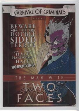 2012-13 Cryptozoic DC Batman: The Legend Carnival of Criminals #CP7 - Two-Face
