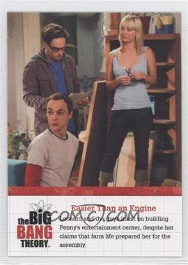 2012 Cryptozoic The Big Bang Theory Seasons 1 & 2 [???] #F07 - Easier Than an Engine