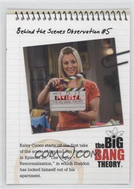 2012 Cryptozoic The Big Bang Theory Seasons 1 & 2 Behind the Scenes Observations #C05 - Behind the Scenes Observation #5