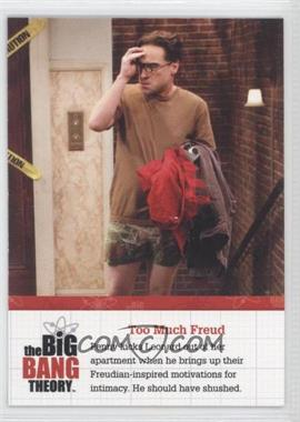 2012 Cryptozoic The Big Bang Theory Seasons 1 & 2 Special Moments Foil #F04 - Too Much Freud