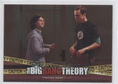 2012 Cryptozoic The Big Bang Theory Seasons 3 & 4 [???] #E-03 - [Missing]