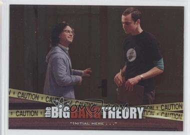 "2012 Cryptozoic The Big Bang Theory Seasons 3 & 4 The Elevator #E-03 - ""Initial Here . . ."""
