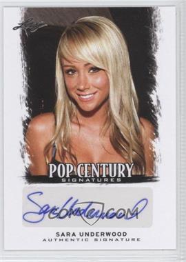 2012 Leaf Pop Century - [Base] #BA-SU1 - Sara Underwood