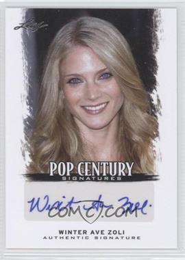 2012 Leaf Pop Century - [Base] #BA-WAZ - Winter Ave Zoli