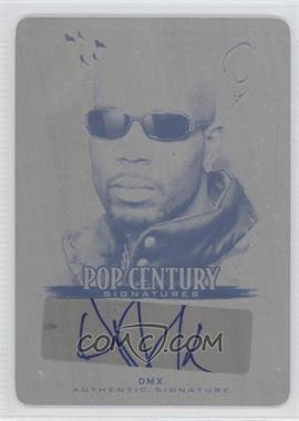 2012 Leaf Pop Century Printing Plate Black #BA-DMX - DMX /1