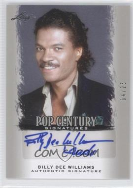 2012 Leaf Pop Century Silver #BA-BDW - Billy Dee Williams /25