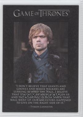 2012 Rittenhouse Game of Thrones Season 1 - The Quotable Game of Thrones #Q6 - Tyrion Lannister, Jon Snow, Samwell Tarly