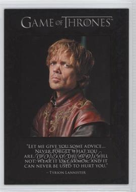 2012 Rittenhouse Game of Thrones Season 1 The Quotable Game of Thrones #Q2 - Tyrion Lannister