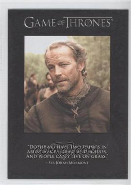 2012 Rittenhouse Game of Thrones Season 1 The Quotable Game of Thrones #Q3 - [Missing]