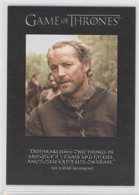 2012 Rittenhouse Game of Thrones Season 1 The Quotable Game of Thrones #Q3 - [Missing]