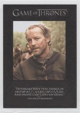 2012 Rittenhouse Game of Thrones Season 1 The Quotable Game of Thrones #Q3 - Ser Jorah Mormont, Ser Jaime Lannister