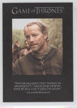 2012 Rittenhouse Game of Thrones Season 1 The Quotable Game of Thrones #Q3 - Ser Jorah Mormont, Ser Jaime Lannister