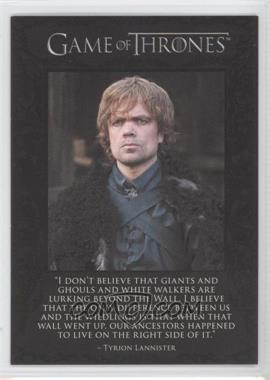 2012 Rittenhouse Game of Thrones Season 1 The Quotable Game of Thrones #Q6 - Tyrion Lannister, Jon Snow, Samwell Tarly