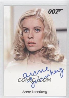 2012 Rittenhouse James Bond: 50th Anniversary Series 2 Full Bleed Autographs #ANLO - Anne Lonnberg as Museum Guide