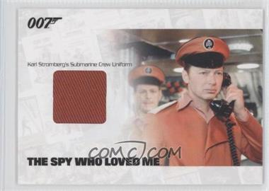 2012 Rittenhouse James Bond: Mission Logs Relics #JBR18 - Karl Stromberg's Submarine Crew Uniform /800
