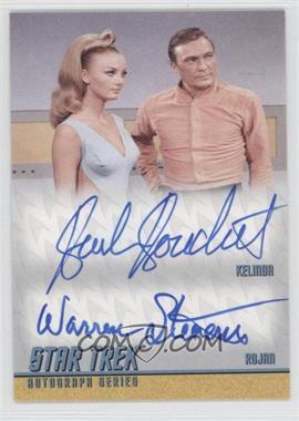 2012 Rittenhouse Star Trek The Original Series: Heroes & Villians Dual Autographs #DA24 - Barbara Bouchet as Kelinda, Warren Stevens as Rojan