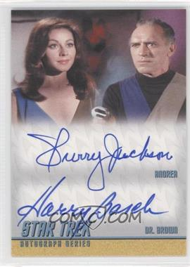 2012 Rittenhouse Star Trek The Original Series: Heroes & Villians Dual Autographs #DA25 - Sherry Jackson as Andrea, Harry Basch as Dr. Brown