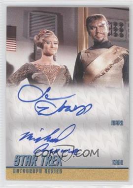 2012 Rittenhouse Star Trek The Original Series: Heroes & Villians Dual Autographs #DA29 - Susan Howard as Mara, Michael Ansara as Kang