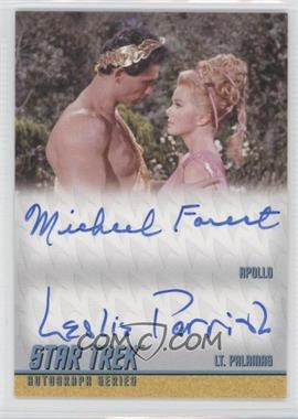 2012 Rittenhouse Star Trek The Original Series: Heroes & Villians Dual Autographs #DA31 - Michael Forest as Apollo, Leslie Parrish as Lt. Palamas