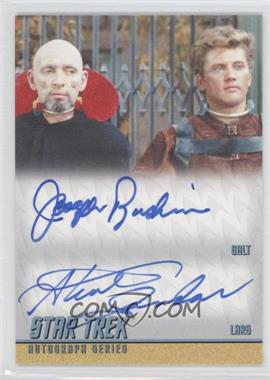 2012 Rittenhouse Star Trek The Original Series: Heroes & Villians Dual Autographs #DA34 - Joseph Ruskin as Galt, Steve Sandor as Lars