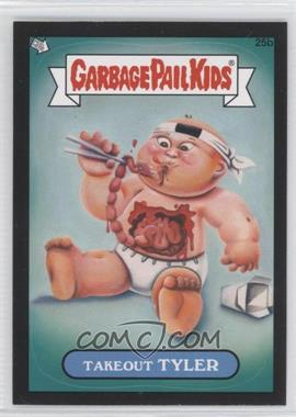 2012 Topps Garbage Pail Kids Brand New Series 1 Black #25b - Takeout Tyler