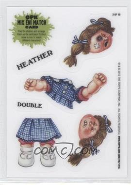 2012 Topps Garbage Pail Kids Brand New Series 1 Mix 'N' Match #3 - Double Heather